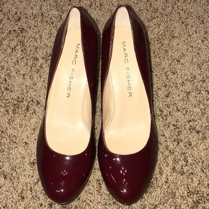 Marc Fisher burgandy pumps heels size 9M